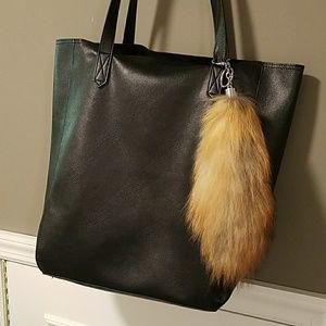 Fox fur keychain